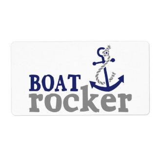 Nautical Humor Boat Rocker Label