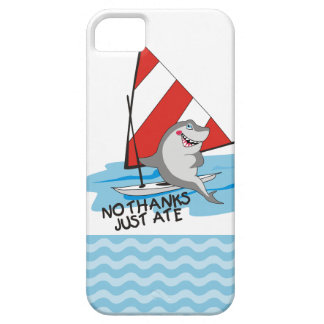 Nautical humor shark sailboat no thanks just ate iPhone SE/5/5s case