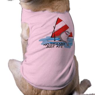 Nautical humor shark sailboat no thanks just ate tee