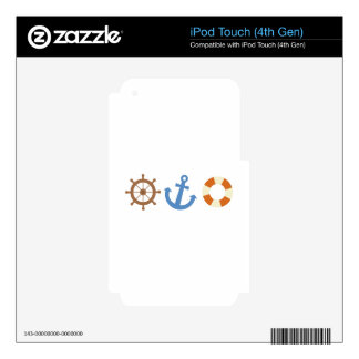 Nautical Icons Decal For iPod Touch 4G