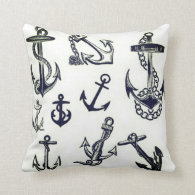 Nautical Inspired Throw Pillow
