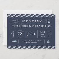 Nautical Invitation for New England Weddings