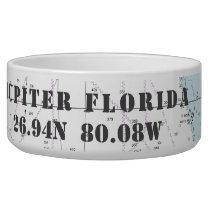 Nautical Jupiter Florida Latitude Longitude Bowl