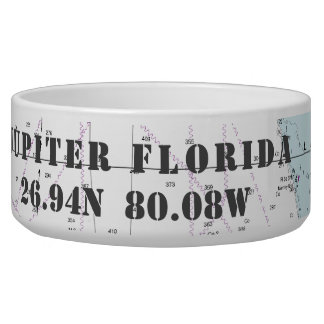 Nautical Jupiter Florida Latitude Longitude Bowl