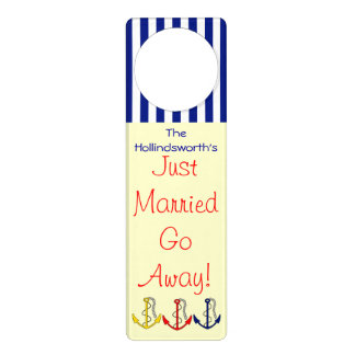 Nautical Just Married-Do Not Disturb Door Hanger
