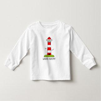 Nautical kids clothes | Striped lighthouse cartoon Toddler T-shirt