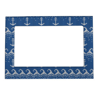 Nautical Knit Pattern Magnetic Photo Frame