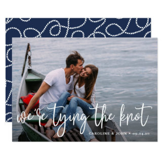 Nautical Knot | Photo Save the Date Card