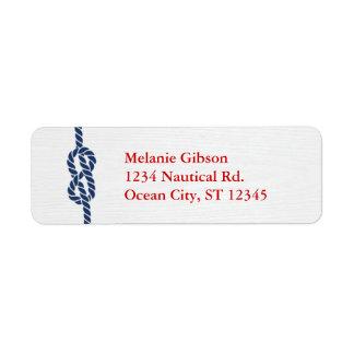 Nautical Knot Return Address Label