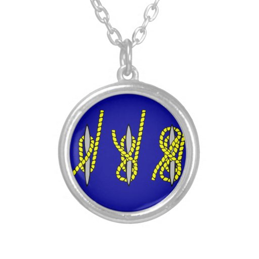 Nautical Knot Round Pendant Necklace