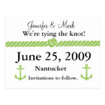 Nautical Knot Save the Date Postcard