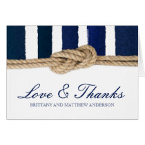 Nautical Knot Watercolor Navy Stripes Thank You