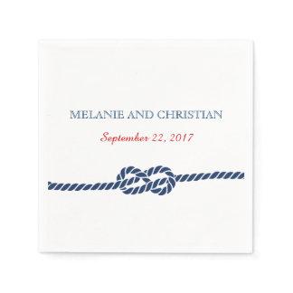 Nautical Knot Wedding Cocktail Napkin