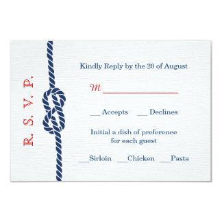Nautical Knot Wedding RSVP Card