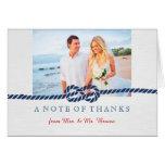 Nautical Knot Wedding Thank You Card