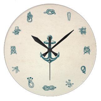 Nautical Knots Clock Wall Clock