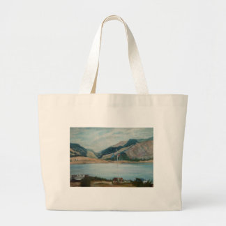 nautical landscape tote bags
