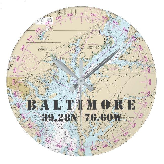 Nautical Latitude Longitude Baltimore MD  24-Hour