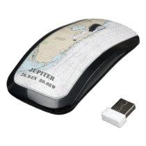 Nautical Latitude Longitude Boater's Florida Wireless Mouse
