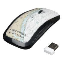 Nautical Latitude Longitude Boater's Fort Pierce Wireless Mouse