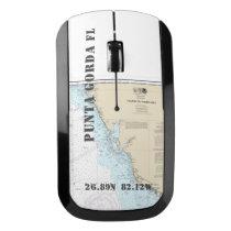 Nautical Latitude Longitude Boater's Punta Gorda Wireless Mouse