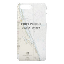 Nautical Latitude Longitude: Fort Pierce, Florida iPhone 8 Plus/7 Plus Case