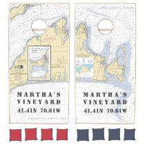 Nautical Latitude Longitude: Martha's Vineyard Cornhole Set