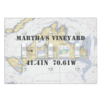 Nautical Latitude Longitude Martha's Vineyard Light Switch Cover