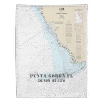 Nautical Latitude Longitude: Punta Gorda FL TWIN Duvet Cover