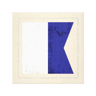 """Nautical Letter """"A"""" Signal Flag Canvas Print"""