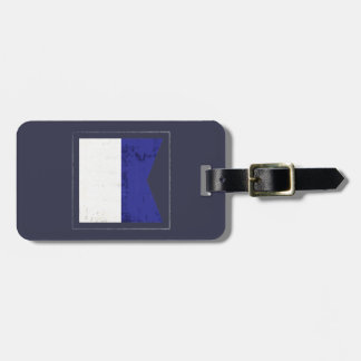 "Nautical Letter ""A"" Signal Flag Luggage Tag"
