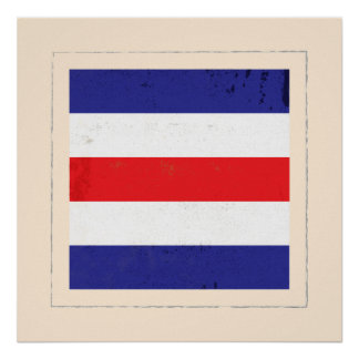 """Nautical Letter """"C"""" Signal Flag Poster"""