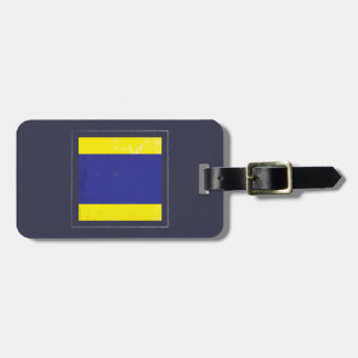 "Nautical Letter ""D"" Signal Flag Luggage Tag"