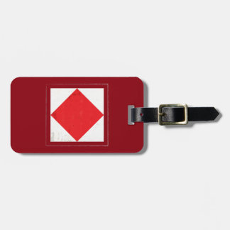"Nautical Letter ""F"" Signal Flag Luggage Tag"