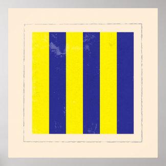 "Nautical Letter ""G"" Signal Flag Poster"