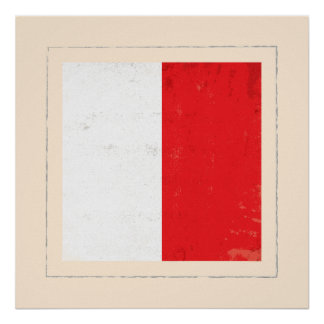 nautical letter h signal flag poster