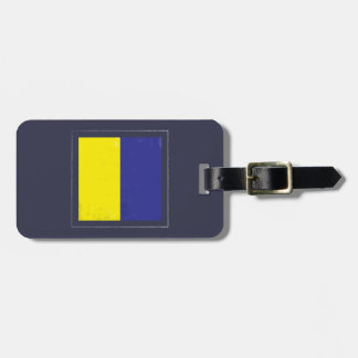 "Nautical Letter ""K"" Signal Flag Bag Tag"