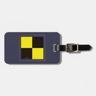 "Nautical Letter ""L"" Signal Flag Luggage Tag"