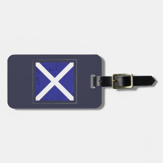 "Nautical Letter ""M"" Signal Flag Luggage Tag"