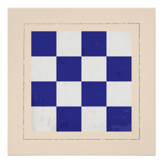 nautical letter n signal flag poster