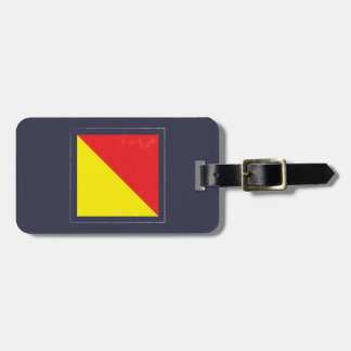 "Nautical Letter ""O"" Signal Flag Bag Tag"