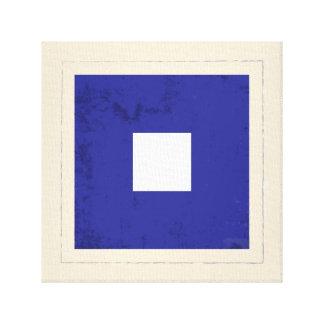 "Nautical Letter ""P"" Signal Flag Canvas Print"