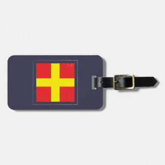 "Nautical Letter ""R"" Signal Flag Bag Tag"