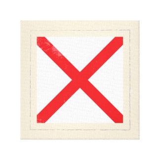"Nautical Letter ""V"" Signal Flag Canvas Print"