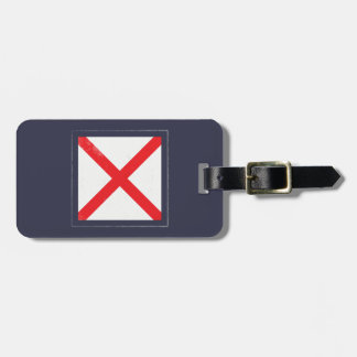 "Nautical Letter ""V"" Signal Flag Luggage Tag"