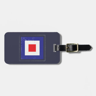 "Nautical Letter ""W"" Signal Flag Bag Tag"