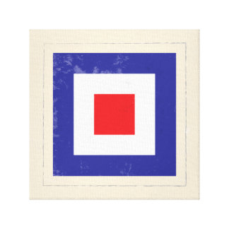 "Nautical Letter ""W"" Signal Flag Canvas Print"