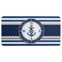 "Nautical - ""Liberty, Amity, Life, Seas"" License Plate"