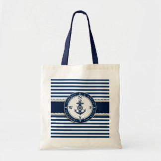 """Nautical - """"Liberty, Amity, Life, Seas"""" Tote Bag"""