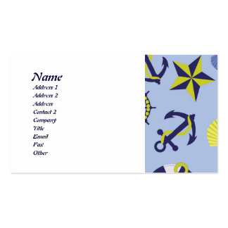 Nautical Life (Blue Background) Double-Sided Standard Business Cards (Pack Of 100)